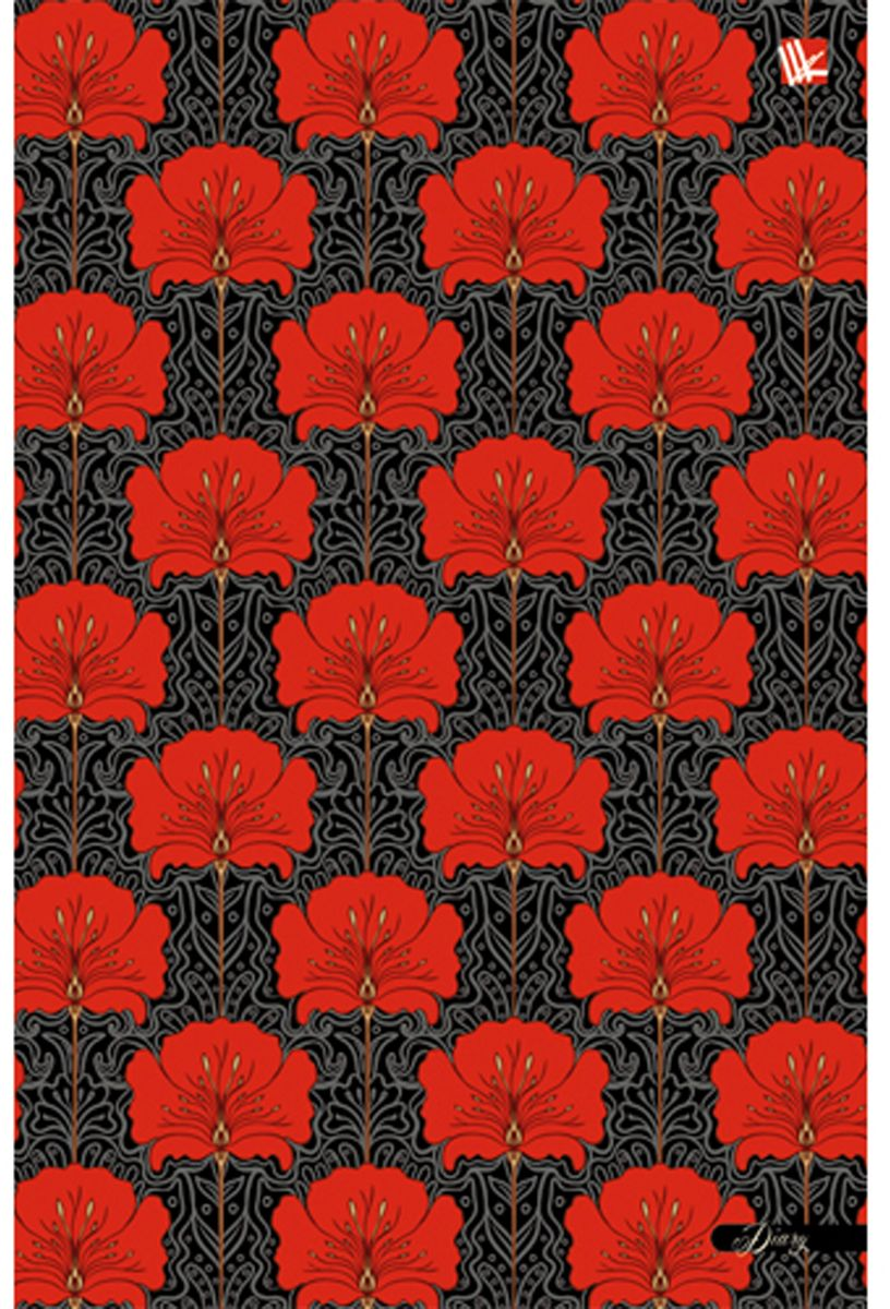 Канц-Эксмо Ежедневник Цветы Красный орнамент недатированный 128 листов формат А5 ежедневник эксмо а5 152л н датир офисный стиль городская геометрия твердая обложка