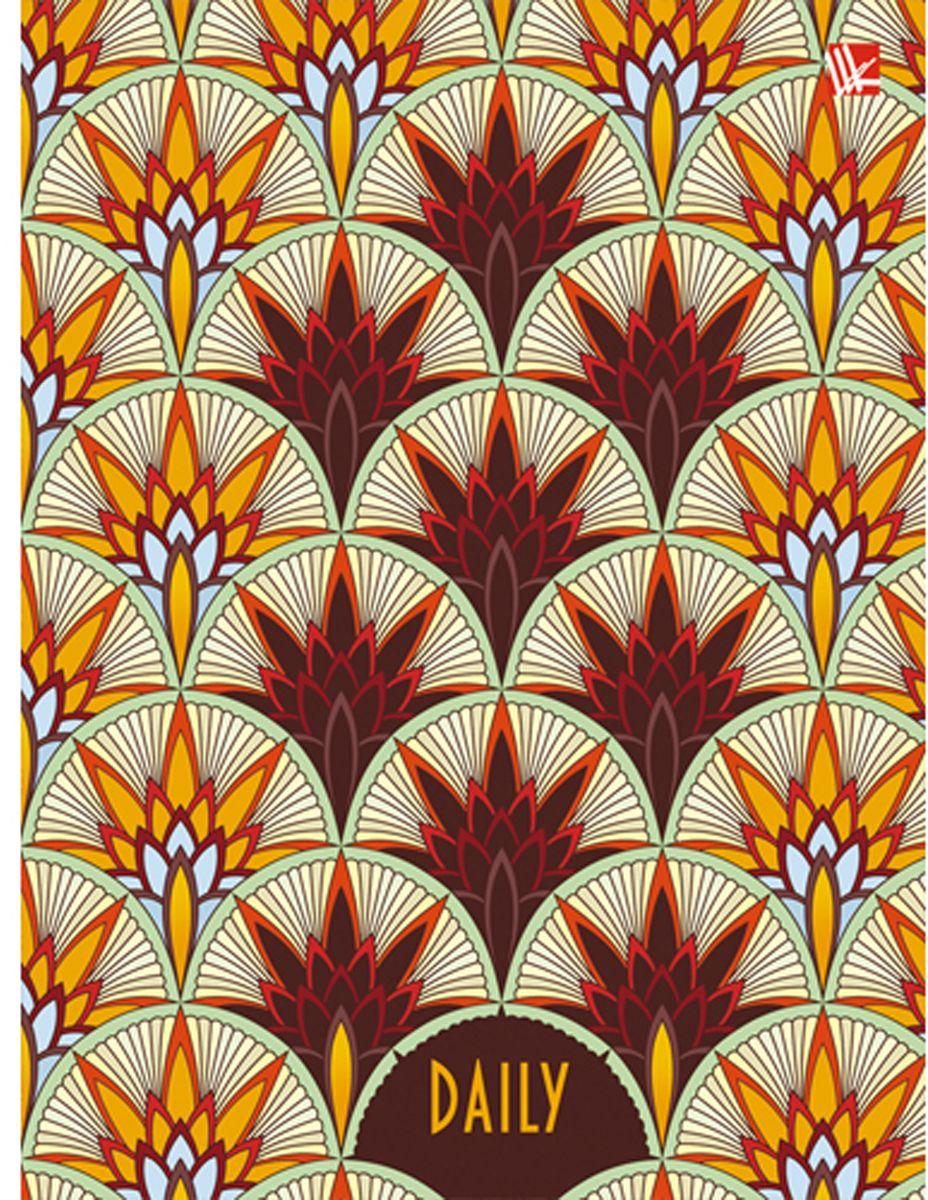 Канц-Эксмо Ежедневник Орнамент Золотые кристаллы недатированный 112 листов формат А6+ канц эксмо записная книжка лисички орнамент в линейку 80 листов формат а6