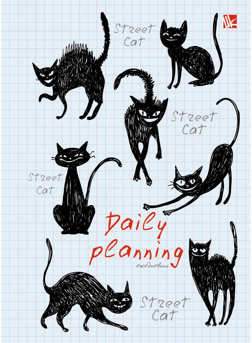 Канц-Эксмо Ежедневник Графика Черные кошки недатированный 160 листов формат А5- канц эксмо ежедневник графика орхидеи недатированный 160 листов формат a5