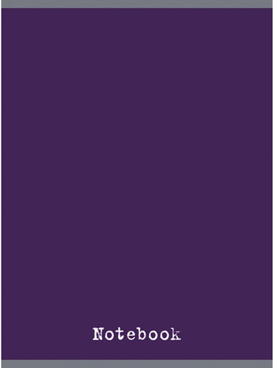 Канц-Эксмо Тетрадь 48 листов в клетку цвет чернильный2228658_ЛевТетрадь для конспектов формата А4, 48 листов в клетку. Обложка из мелованного картона, глянцевая ламинация, печать по металлизированной пленке серебро, бумага офсетная 60 г/м2. Крепление - скрепка.