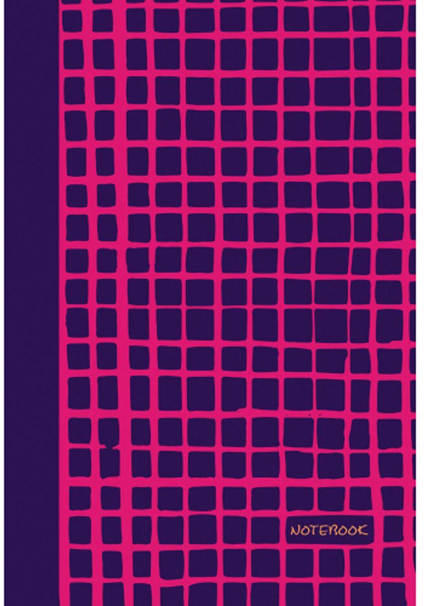 Канц-Эксмо Блокнот Яркие штрихи 96 листов цвет фуксияЕТИ59683Блокнот Канц-Эксмо Яркие штрихи великолепно подойдет для записей, заметок и зарисовок. Формат А5+. Интегральный переплет, матовая ламинация форзацы - двухсторонний, пантонный, нелинованный блок. Внутренний блок - бумага офсетная 70гр/м, листы в клетку. Сшитый блок.
