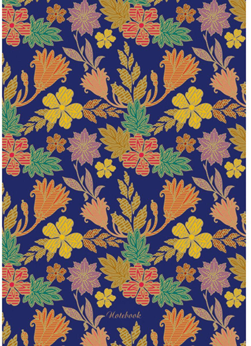 Канц-Эксмо Блокнот Орнамент Рисованные цветы 80 листов канц эксмо блокнот цветы нежность 64 листа