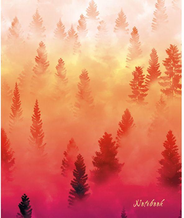Канц-Эксмо Блокнот Графика Туман над лесом 120 листов в клетку формат А5 блокнот серия natural формат а5 140 стр темно бордовый в клетку
