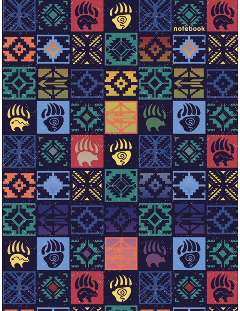 Канц-Эксмо Блокнот Орнамент Этнический стиль 96 листов в клетку формат А6 книга для записей с поролоном 80 листов орнамент разноцветные зонтики канц эксмо