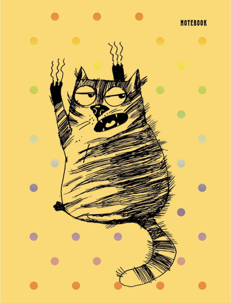 Канц-Эксмо Блокнот Графика Черный кот 96 листов в клетку формат А6КЗФ6962433Блокнот Канц-Эксмо Графика. Черный кот в оригинальном оформлении подходит для ваших сумасшедших идей, записей и заметок. Книга для записей формата А6. Обложка выполнена из картона, матовая ламинация, тиснение фольгой Голография, тонированные форзацы. Внутренний блок - бумага белая, офсетная 70г/м2, листы в клетку. Издание дополнено ляссе. Сшитый блок.