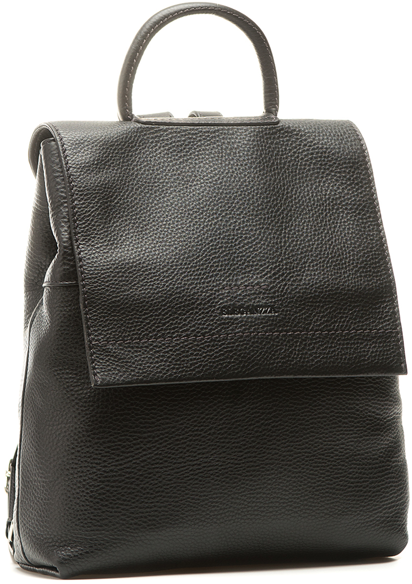 Сумка-рюкзак женская Eleganzza, цвет: черный. Z-15231-1Z-15231-1Женский сумка - -рюкзак Eleganzza выполнена из натуральной кожи. Рюкзак закрывается на клапан. Внутри - одно отделение, в котором имеется два открытых кармана и карман на молнии. Модель имеет скрытый карман на передней стенке и карман на задней стенке. Рюкзак вмещает формат А4. Высота ручки - 9 см. Длина лямки рюкзака - 75 см. Размер: 32 х 9 х 27 см.