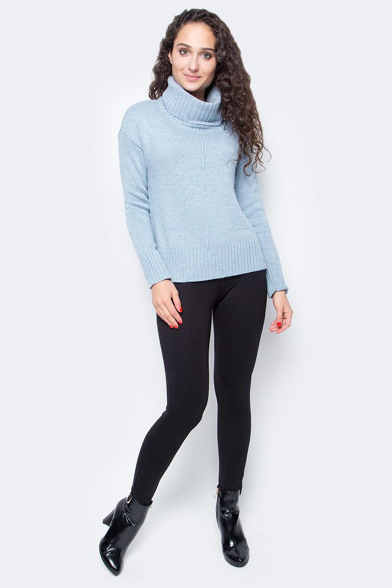 Свитер женский Baon, цвет: голубой. B167506_Cloudy Blue. Размер XL (50) кардиган женский baon цвет черный b147505 black размер xl 50