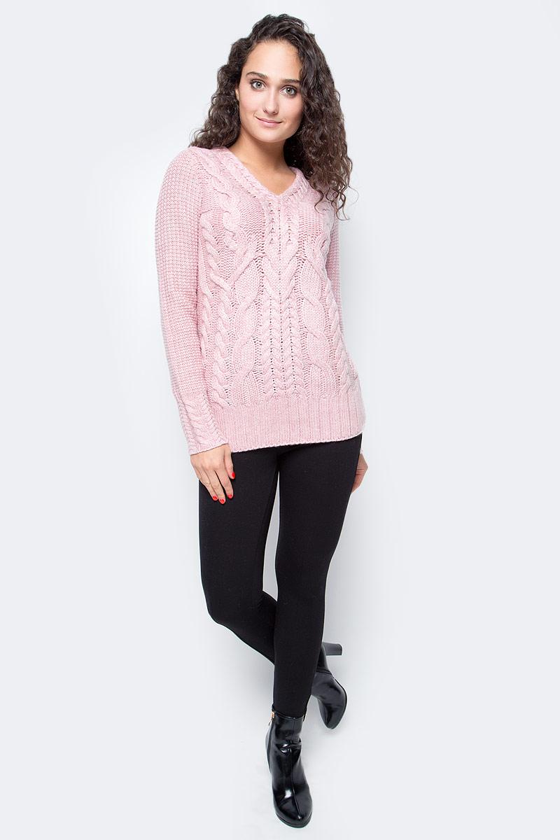 Джемпер женский Baon, цвет: розовый. B167505_Lotus. Размер M (46) джемпер женский baon цвет темно синий b136561 размер m 46