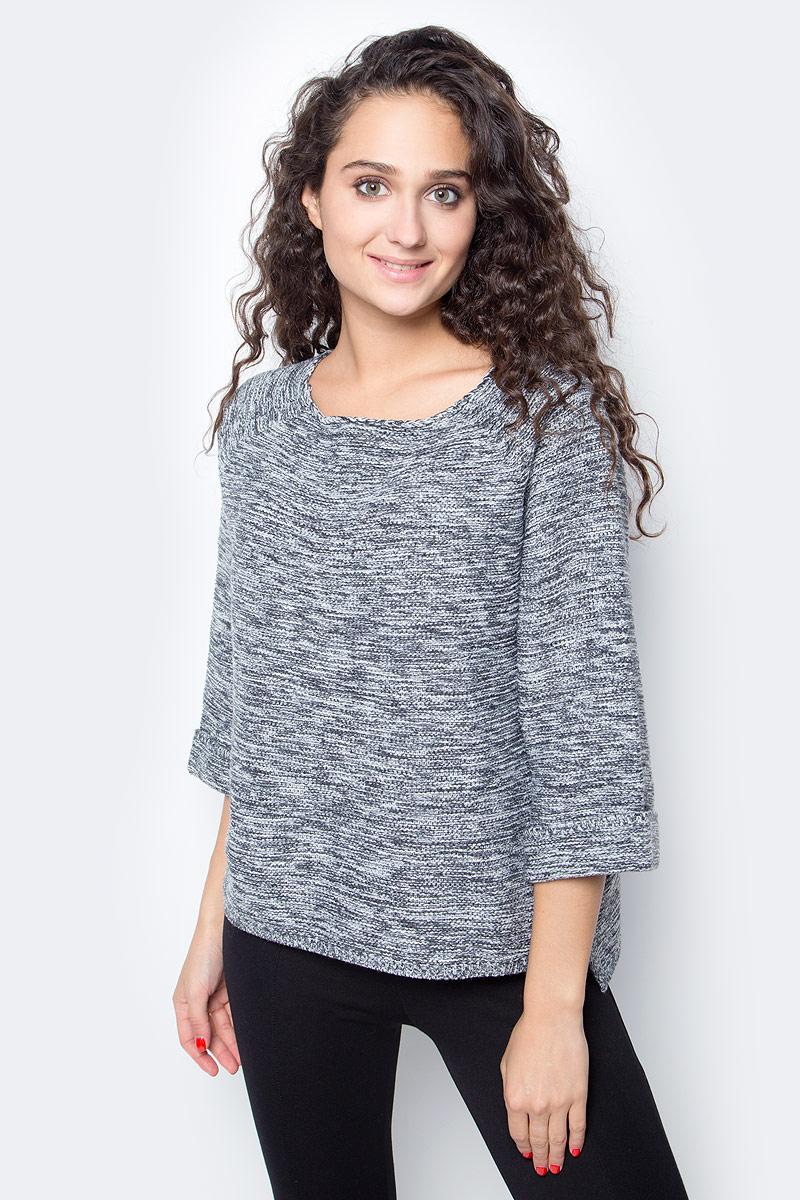 Джемпер женский Baon, цвет: серый. B137559_Zircon Melange. Размер S (44) женский гардероб