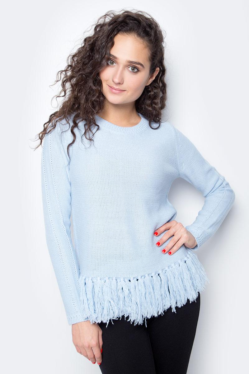Джемпер женский Baon, цвет: голубой. B137520_Cloudy Blue. Размер L (48) женский гардероб