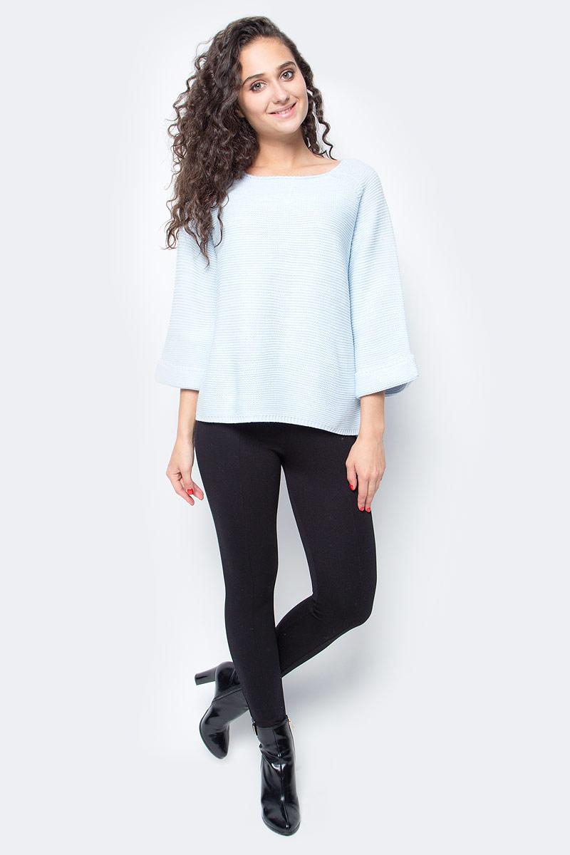 Джемпер женский Baon, цвет: голубой. B137559_Cloudy Blue Melange. Размер L (48) водолазка мужская baon цвет синий b727502 baltic blue melange размер xxl 54