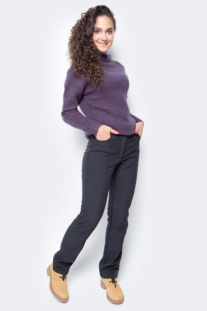 Брюки женские Baon, цвет: черный. B297525_Black. Размер S (44)B297525_BlackЕсли вы любите прогулки и ведете активный образ жизни, то с наступлением холодов не сможете обойтись без теплой и удобной одежды. Эти брюки от Baon из виндблока созданы специально для вас! Внутренняя часть этого материала представляет собой флис, а внешняя - мембрану, которая имеет влаго- и ветрозащитные свойства. Изделие застегивается на молнию и две кнопки. У пояса расположены карманы. Брюки дополнены шлевками для ремня.