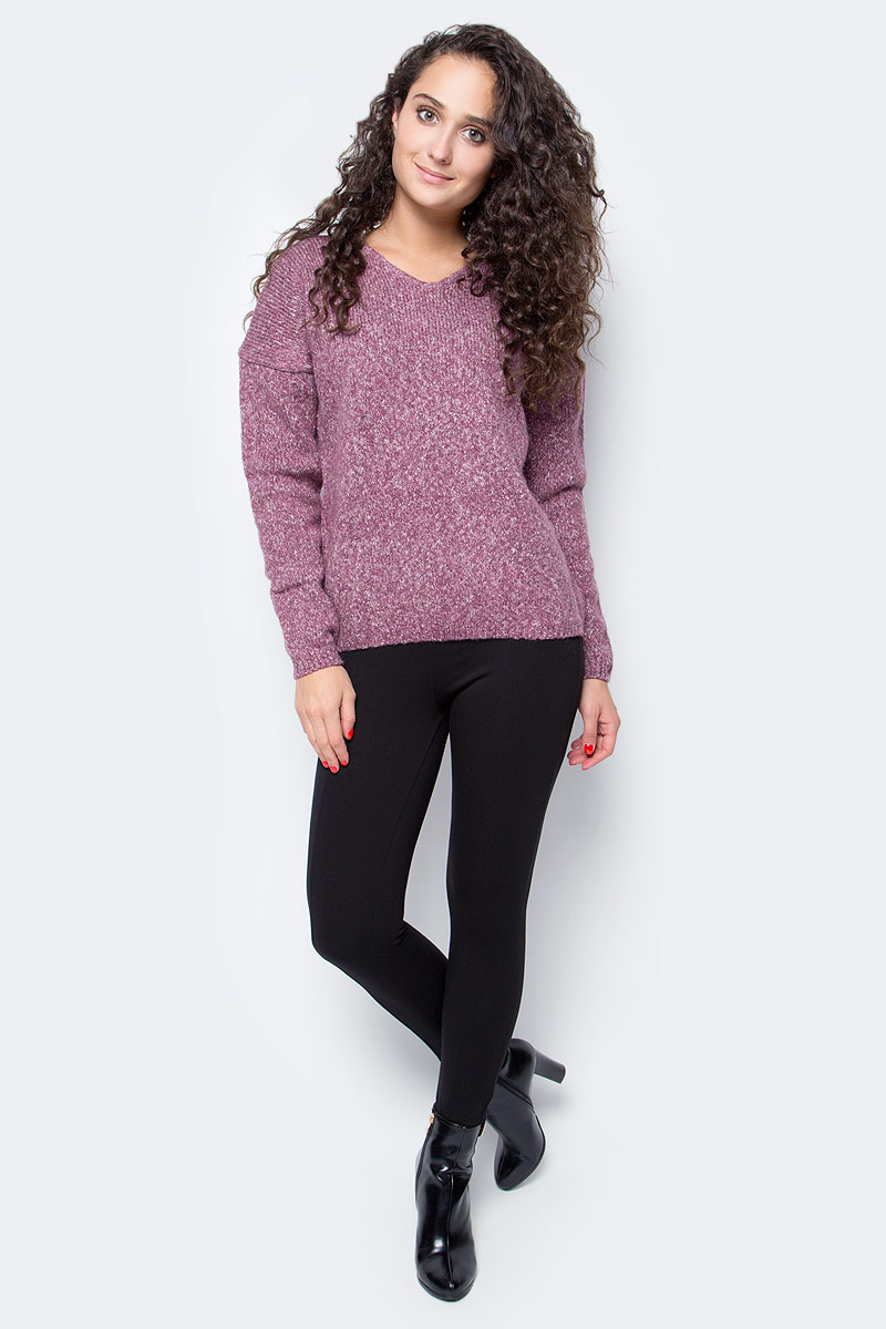 Джемпер женский Baon, цвет: розовый. B137581_Old Rose Melange. Размер L (48) платье baon цвет серый b457530 silver melange размер l 48