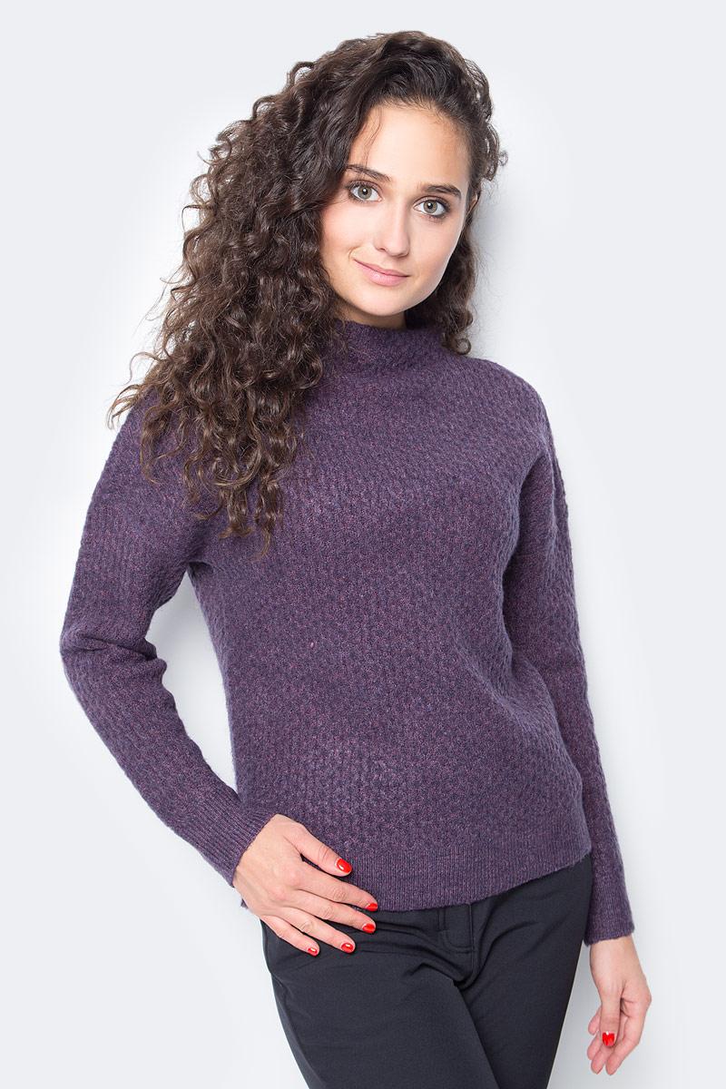 Свитер женский Baon, цвет: фиолетовый. B137583_Plum Melange. Размер XL (50) женский гардероб