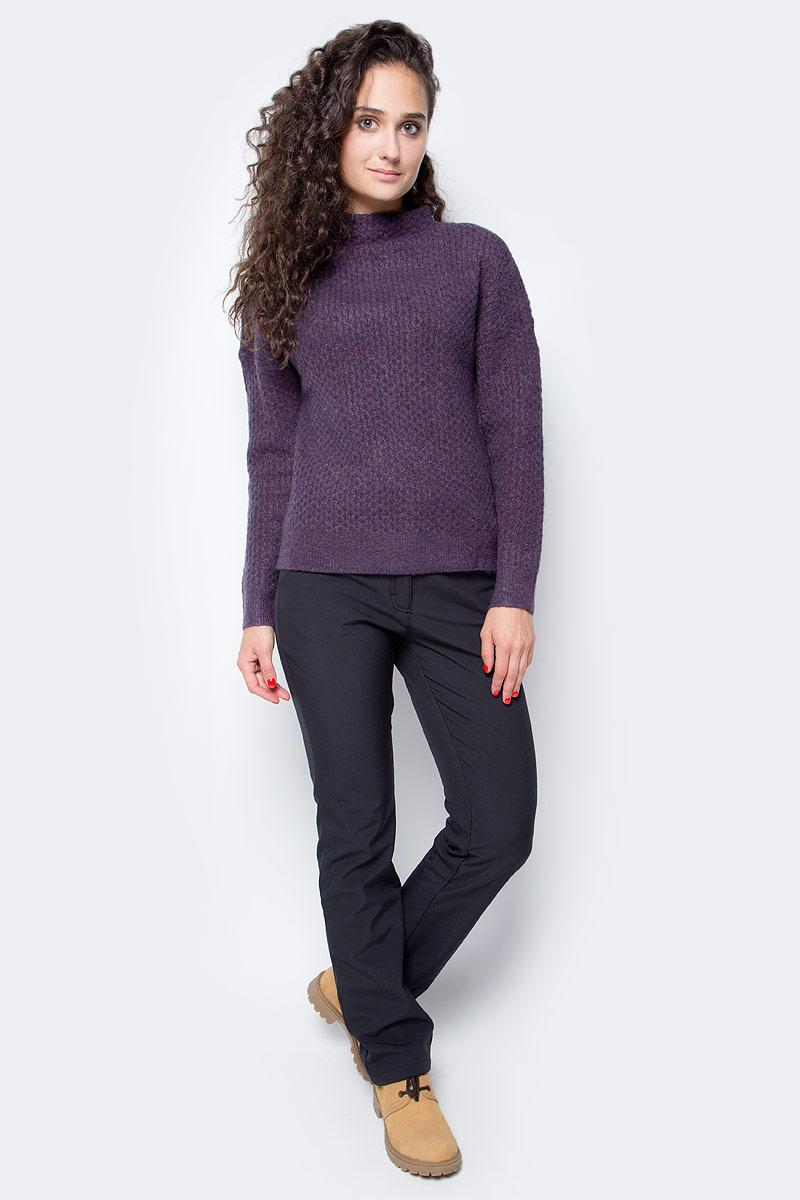 Свитер женский Baon, цвет: фиолетовый. B137583_Plum Melange. Размер XL (50) кардиган женский baon цвет черный b147505 black размер xl 50