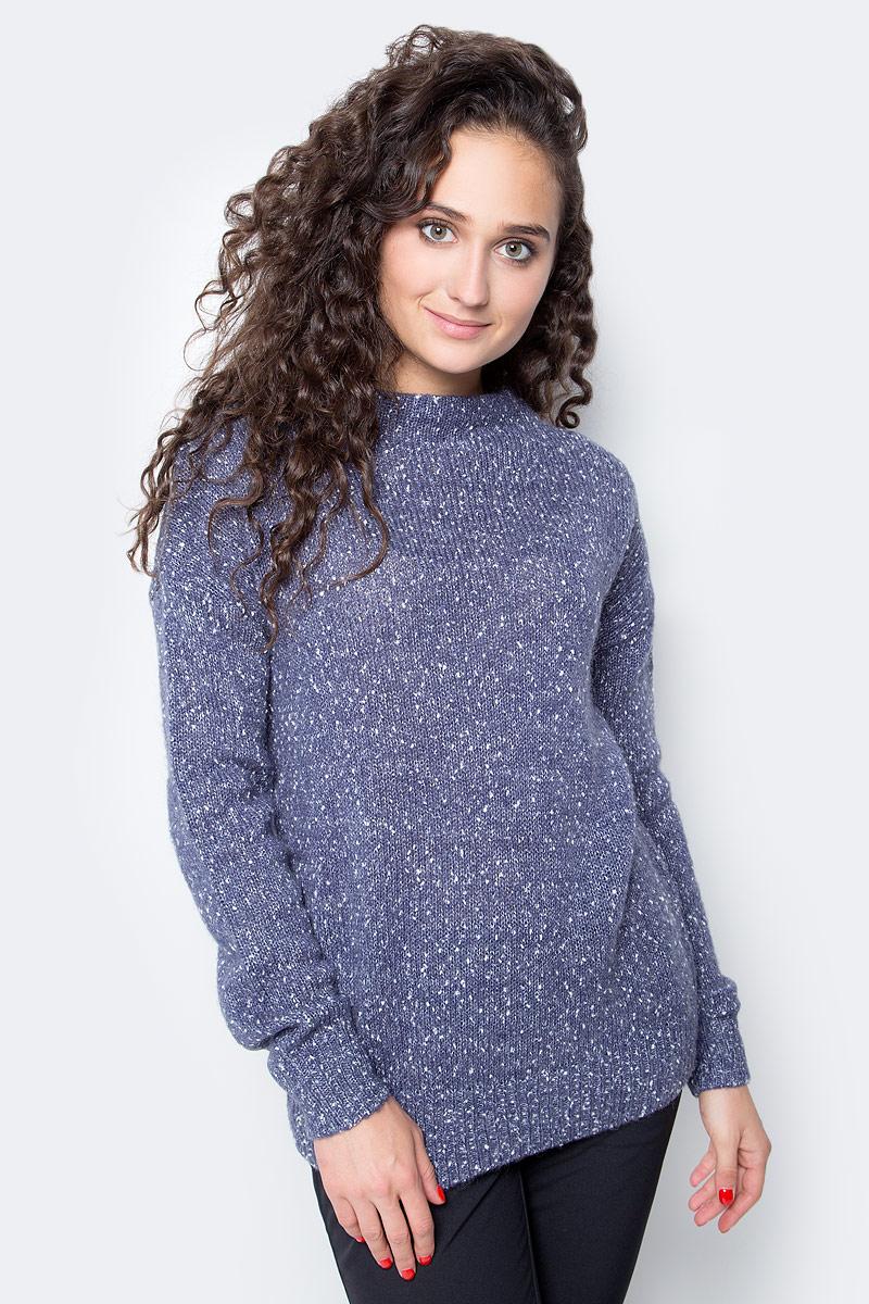 Джемпер женский Baon, цвет: голубой. B137580_Dark Skyward Melange. Размер L (48) джемпер женский baon цвет бежевый b137564 muscovite melange размер l 48