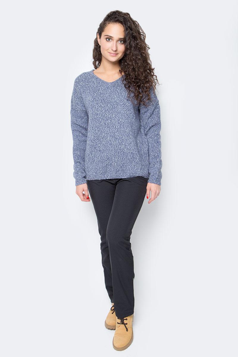 Джемпер женский Baon, цвет: голубой. B137581_Dark Skyward Melange. Размер L (48) платье baon цвет серый b457530 silver melange размер l 48
