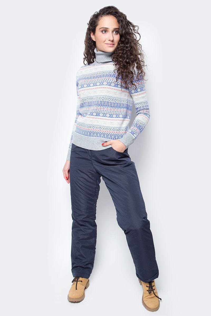Водолазка женская Baon, цвет: серый. B227505_Silver Melange. Размер M (46) водолазка мужская baon цвет синий b727502 baltic blue melange размер xxl 54