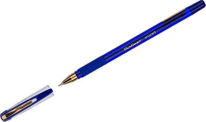 Berlingo Ручка шариковая xGold цвет чернил синийCBp_07500Шариковая ручка Berlingo xGold с технологией Smart Ink обеспечивает супермягкое письмо. Мягкая зона захвата. Вентилируемый колпачок.