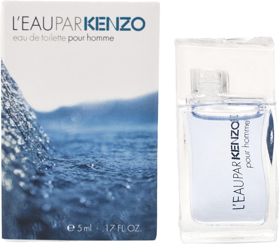 Kenzo Leau Par man туалетная вода, 5 мл42481Знакомый и уже полюбившийся аромат Kenzo L`eau par pour Homme, выпущен в новом обличье. Kenzo Parfums был найден компромисс: неизменная традиционная композиция представлена в новом интригующем дизайне упаковки, пробуждающем ощущение свежести и новизны. Кристально чистые, небесного цвета капли воды образуют волну, заполненную легкими пузырьками, наполняющими воздух свежестью, бодростью и энергией, как и сам аромат. Основные ноты: мускус, лимон, лотос, зелень, перец, мята, юзу, лотос.Краткий гид по парфюмерии: виды, ноты, ароматы, советы по выбору. Статья OZON Гид