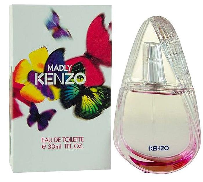 Kenzo Madly туалетная вода, 30 мл953514Женщина, живущая в согласии с собой и познавшая радость непослушания, умеет жить полной жизнью. Яркой, насыщенной, магической. Она не придает значения условностям, решается на самые смелые поступки. Kenzo представляет аромат с оригинальной композицией и яркой индивидуальностью. Потрясающая форма флакона — стилизованное крыло бабочки, почти спиральное и передающее движение. Простая, уникальная и запоминающаяся форма. Цвет растворяется в стекле... Бабочки — это символ Madly Kenzo. Трогательные и неуловимые, они символизируют стремление к красоте и свободе. Мириады бабочек, вырвавшихся на свободу, завораживающий хоровод... Верхние ноты: груша и личи; Сердце: жасмин и гелиотроп; Ноты базы: мускус и белый кедр