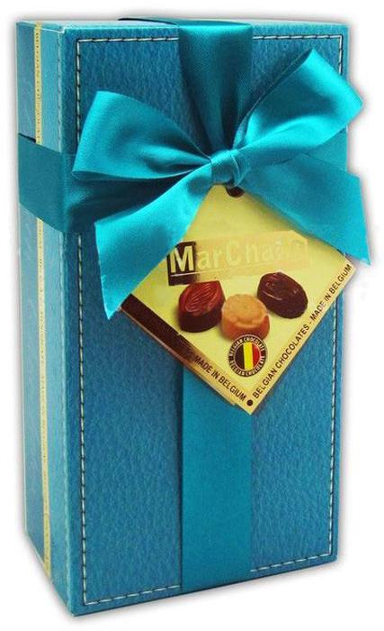MarChand пралине шоколадные конфеты, 200 г5413202993226_синяя коробкаMarChand пралине шоколадные конфеты, 200 г