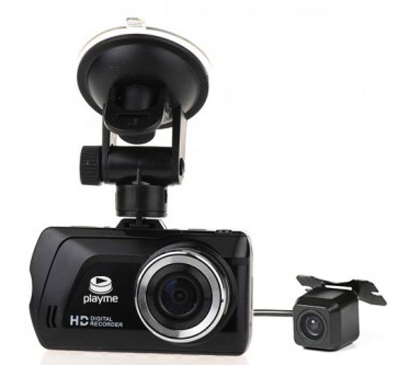 PlayMe Tretton автомобильный видеорегистраторPlayMe-TRETTONPlayMe Tretton - уникальный видеорегистратор с двумя камерам, высоким качеством записи и удобным поворотным креплением. Провод длинной 5,8 метра позволит установить заднюю камеру в абсолютно любом автомобиле.