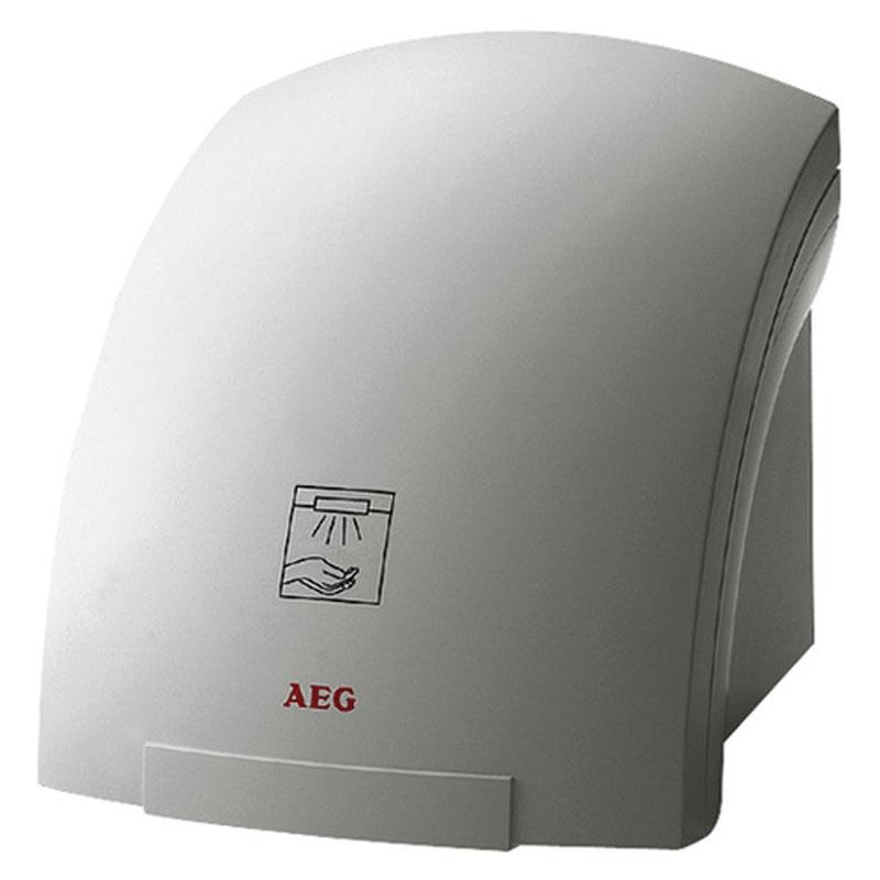 AEG HE 181 сушилка для рук30063Сушилка для рук AEG HE 181 применяется для гигиенического подсушивания рук в местах общественного пользования и в быту. Оснащена встроенным инфракрасным датчиком приближения, автоматически запускающим вентилятор и нагрев. Брызгозащищенный пластиковый корпус.Рассчитана минимум на 10000000 включений, что в 2 раза превышает ресурс производителей-конкурентовОснащена встроенным инфракрасным датчиком, который автоматически включает прибор при приближении рук и выключает его через 3 секунды после того, как прибором прекратили пользоваться. Это значительно экономит электроэнергиюВысокомощный нагревательный элемент и особая инновационная конструкция корпуса позволяют создать поток воздуха до 146 м3 в час, высушивающий руки всего за 20 секундПрибор прост в эксплуатации, не производит мусора, не нуждается в техническом обслуживании и не требует переукомплектовывания после определенного периода использования