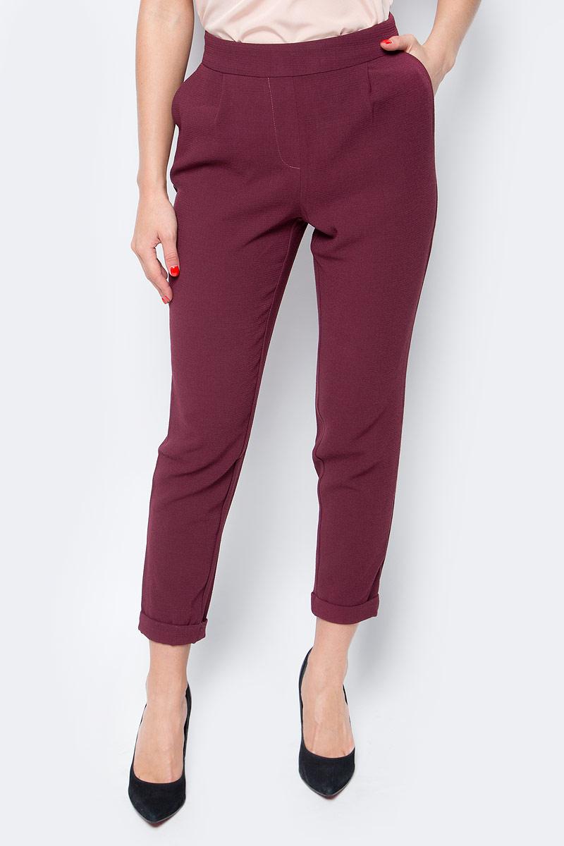 Брюки женские Only, цвет: бордовый. 15137833_Port Royale. Размер XS (40/42) брюки женские only цвет черный 15136433