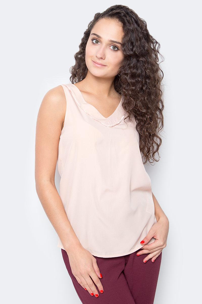 Топ женский Vero Moda, цвет: розовый. 10185861_Rose Cloud. Размер  (46)