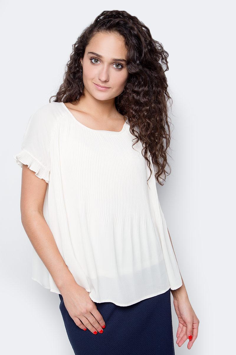 Блузка женская Vero Moda, цвет: бежевый. 10185884_Eggnog. Размер S (42/44) блузка женская vero moda цвет черный 10187780 black размер 42 44