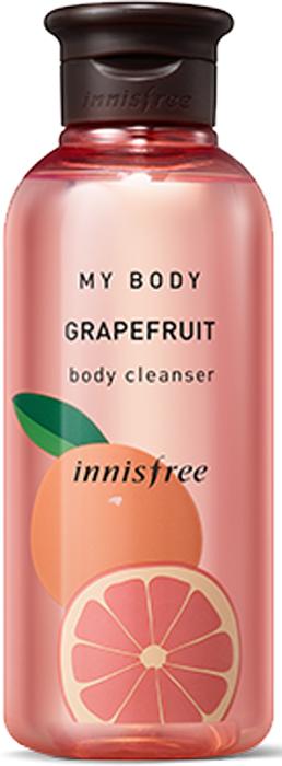 Innisfree Гель для душа грэйпфрут, 300 мл530786Парфюмированный гель для душа зарядит вас энергией и подарит несколько минут удовольствия! Грейпфрут обладает незабываемым терпким ароматом. Грейпфрутовое масло оказывает стимулирующее воздействие на лимфатическую систему и прекрасно питает клетки тканей, насыщая их витаминами и минеральными веществами. Оно способствует восстановлению баланса жидкостей в организме, выводит лишнюю воду и снимает отеки.