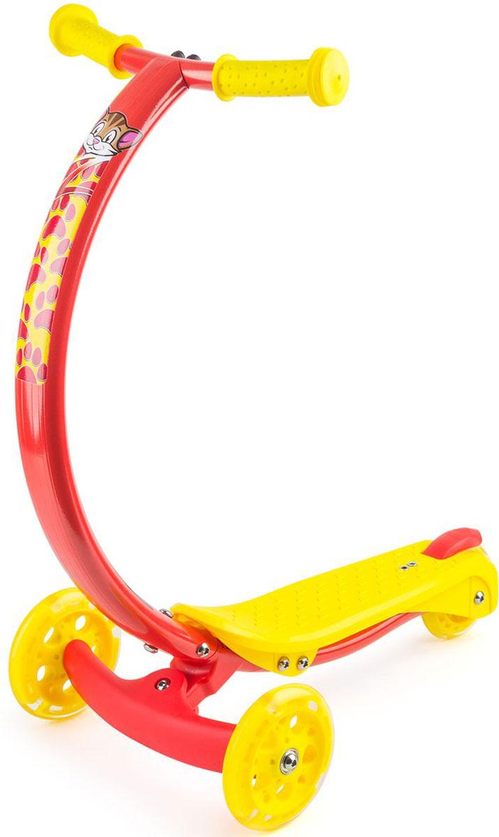 Самокат Zycom Zipster, со светящимися колесами, цвет: красный1149159Будущее здесь уже сегодня. Zycom Zipster - модель с веселыми зверюшками и еще более яркими детскими цветами, рассчитанная на детей от 2 до 5 лет. Яркие цвета наполняют настроем лета и солнца, а фирменная изогнутая ручка (в форме улыбки) поражает элегантностью, необычностью и удобством для детей. Тигренок, обезьянка, зайчик и котенок - веселые рожицы лесных персонажей сделают самокат живым и одушевленным, способным поиграть с вашим малышом, а не просто бездушным транспортом. Что поразительно - самокат имеет еще и светящиеся колеса, которые будут дополнительным развлечением на прогулке. Во время движения они мигают и переливаются, создавая ощущения праздника или движущегося космического корабля. Изогнутая ручка самоката не только поражает красотой и полетом современной инженерной мысли, но также невероятно удобна.Ведь положение рук под углом 45 градусов - при обхвате рукояток - более естественно для ребенка, удобно и комфортно. Когда ручки в таком положении, то ребенку не нужно наклоняться вперед, или принимать неестественную позу. Ребенок может кататься с ровной спиной. Также благодаря изогнутой форме коленки не будут задевать руль при катании. Самокат поворачивает за счет наклонов (перенесения тяжести тела) ребенка влево-вправо. Это учит балансировать и развивает чувство равновесия у детей, а также в целях безопасности не дает сделать слишком резкий поворот. Самокат Zycom Zipster очень компактен - высота ручки от пола составляет 61 см, при этом она оптимальна для детей различного роста в возрасте от 2 до 5 лет. Максимальная допустимая нагрузка - 50 кг. Это очень много. Такой надежностью не может похвастаться ни один трехколесный самокат в данной категории. Благодаря тому, что ручка сделана из алюминия специальным образом, то самокат имеет малый вес при высокой надежности конструкции. Производитель предусмотрел эргономичные рукоятки, которые легко и просто обхватить детской рукой, а также компактный 
