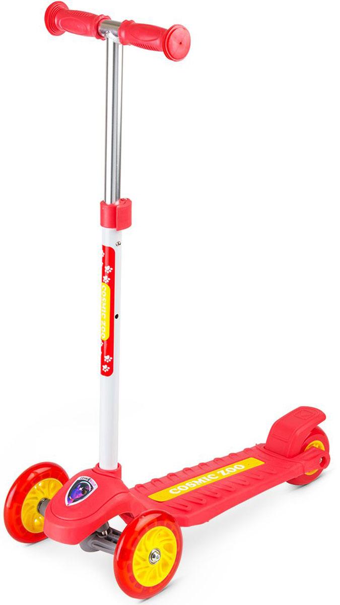 Самокат Small Rider  Zoo Galaxy One , 3-колесный, со светящимися колесами, цвет: красный - Самокаты