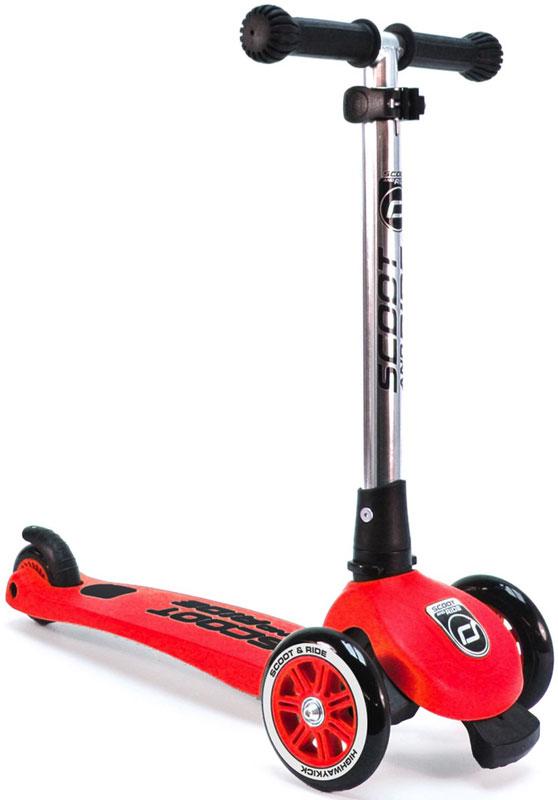 Самокат Scoot&Ride HighwayKick 3 Light, цвет: красный1373332Самокат Scoot&Ride HighwayKick 3 Light, в отличие от Highway Kick 3 не имеет функции сложения ручки, - это самокат, предназначенный для детей от 3 до 6 лет с впечатляющей маневренностью, красивым внешним видом и максимальной безопасностью. Эта функция реализуется у всех самокатов Scoot&Ride за счет стоппера, который крепится спереди-снизу самоката и не дает ребенку улететь вперед при неудачном маневре. При заваливании вперед стоппер касается земли первым, и не дает самокату дальше заваливаться вперед. Уровень выдвижения стоппера вы можете отрегулировать сами шестигранным ключом, а также вообще убрать его при необходимости. Это запатентованная функция компании Scoot&Ride Company GmbH (Австрия). При разработке самоката инженеры уделили много внимания механизму. Казалось бы, принцип поворота за счет наклонов у самоката тот же, однако качество фурнитуры и подшипников гораздо выше многих моделей.