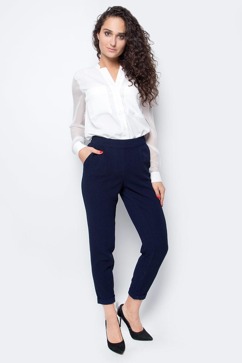 Блузка женская Baon, цвет: белый. B177544_Milk. Размер XL (50) футболка женская baon цвет белый b237081 white размер xl 50