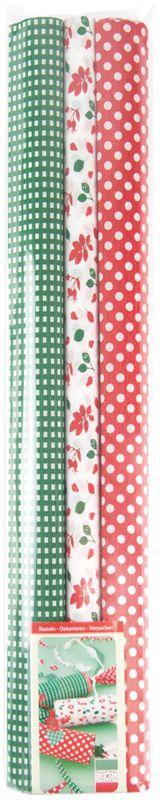 Werola Бумага крепированная цвет красный зеленый белый 3 шт 50 см х 200 см228549Бумага с эксклюзивными дизайнерскими принтами, плотная, светостойкая, выпускается экологически чистым способом, не содержит токсичных и канцерогенных материалов.Используется для оформления подарков, интерьеров, букетов, в технике скрапбукинг, декупаж.