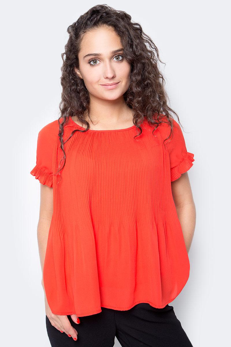 Блузка женская Vero Moda, цвет: красный. 10185884_Flame Scarlet. Размер XS (40/42) блузка женская vero moda цвет черный 10187780 black размер 42 44