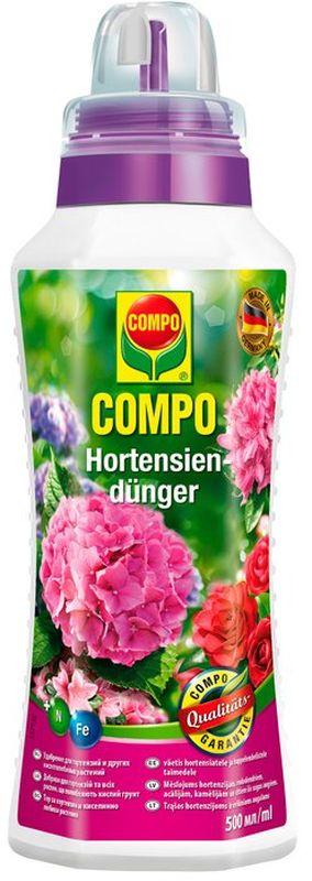 Удобрение для гортензий и кислолюбивых растений Compo, 500 мл удобрение минеральное agree s для комнатных цветов 250 мл