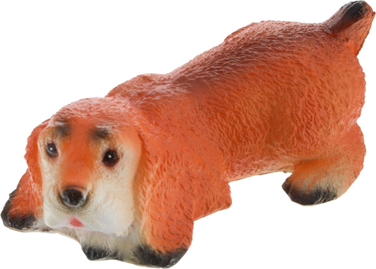 Фигура садовая Лежащий спаниель, цвет: оранжевый, 30 х 12 х 10 см1172090_оранжевыйСоздайте настроение в любимом саду: украсьте его оригинальным декором. Собака - лучший друг человека. Поселите такого питомца у себя на участке, и он станет верным охранником и разнообразит ландшафт.Придайте саду неповторимость. Разрабатывайте собственный дизайн и расставляйте акценты. Хотите привлечь внимание к клумбе? Поставьте садовую фигуру рядом с ней. А расположенная прямо у калитки, она приятно удивит гостей. Еще такой декор легко замаскирует неприглядные детали на участке.Фигуры из гипса отличаются легкостью, экологичностью и долгим сроком службы. При должном уходе они будут выглядеть как новые не один сезон.