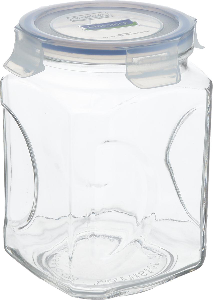"""Банка """"Glasslock"""", выполненная из стекла, отлично подойдет для хранения сыпучих продуктов. Пластиковая крышка с силиконовой прослойкой плотно закрывается с помощью 4 защелок, дольше сохраняя свежесть продуктов. Изделие устойчиво к внешним воздействиям, не пропускает влагу, пыль и запахи. Такая банка стильно дополнит интерьер и поможет дольше  хранить продукты.  Диаметр банки (по верхнему краю): 10,5 см.  Высота банки: 19 см."""