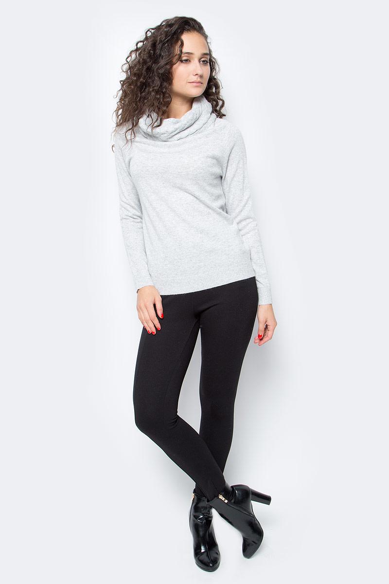 Свитер женский Baon, цвет: серый. B137550_Silver Melange. Размер L (48) платье baon цвет серый b457530 silver melange размер l 48