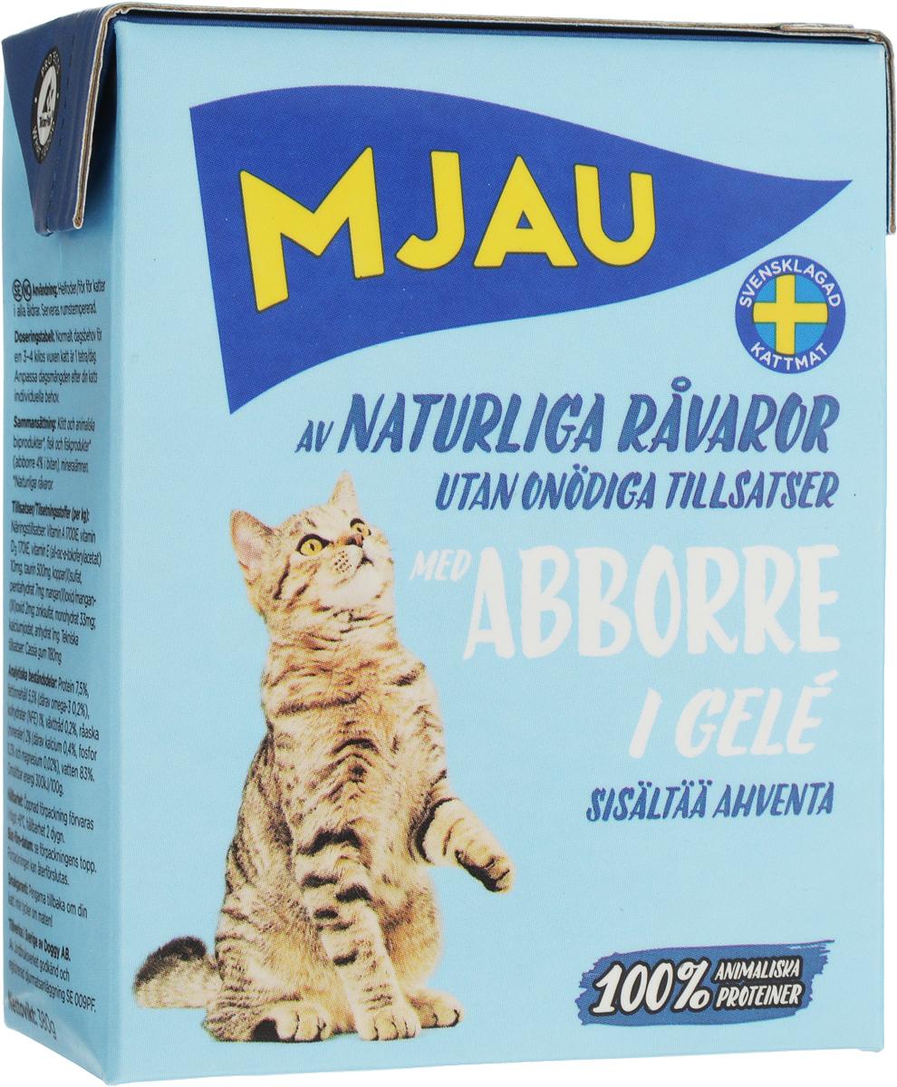 Консервы для кошек Mjau, мясные кусочки в желе с окунем, 380 г свободностоящая стремянка krause monto solidy 8 ступенек рабочая высота 3 7 м 126269