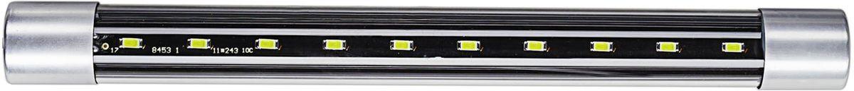 Лампа-светильник универсальная Barbus, светодиодная, цвет свечения: голубой, 5 Вт, 27 смLED 011Светодиодная лампа-светильник Barbus, оснащенная светодиодами нового поколения, идеально подходит для создания современного аквариумного дизайна. Светильник обеспечивает оптимальный спектр свечения для растений и рыб и гарантирует долгий срок эксплуатации и сверхэкономичное энергопотребление. Лампа универсальна: ее можно использовать и как наружный светильник, и как подводную подсветку. Изделие крепится с помощью двух присосок и работает от электросети.Напряжение: 220-240В.Частота: 50/60 Гц.