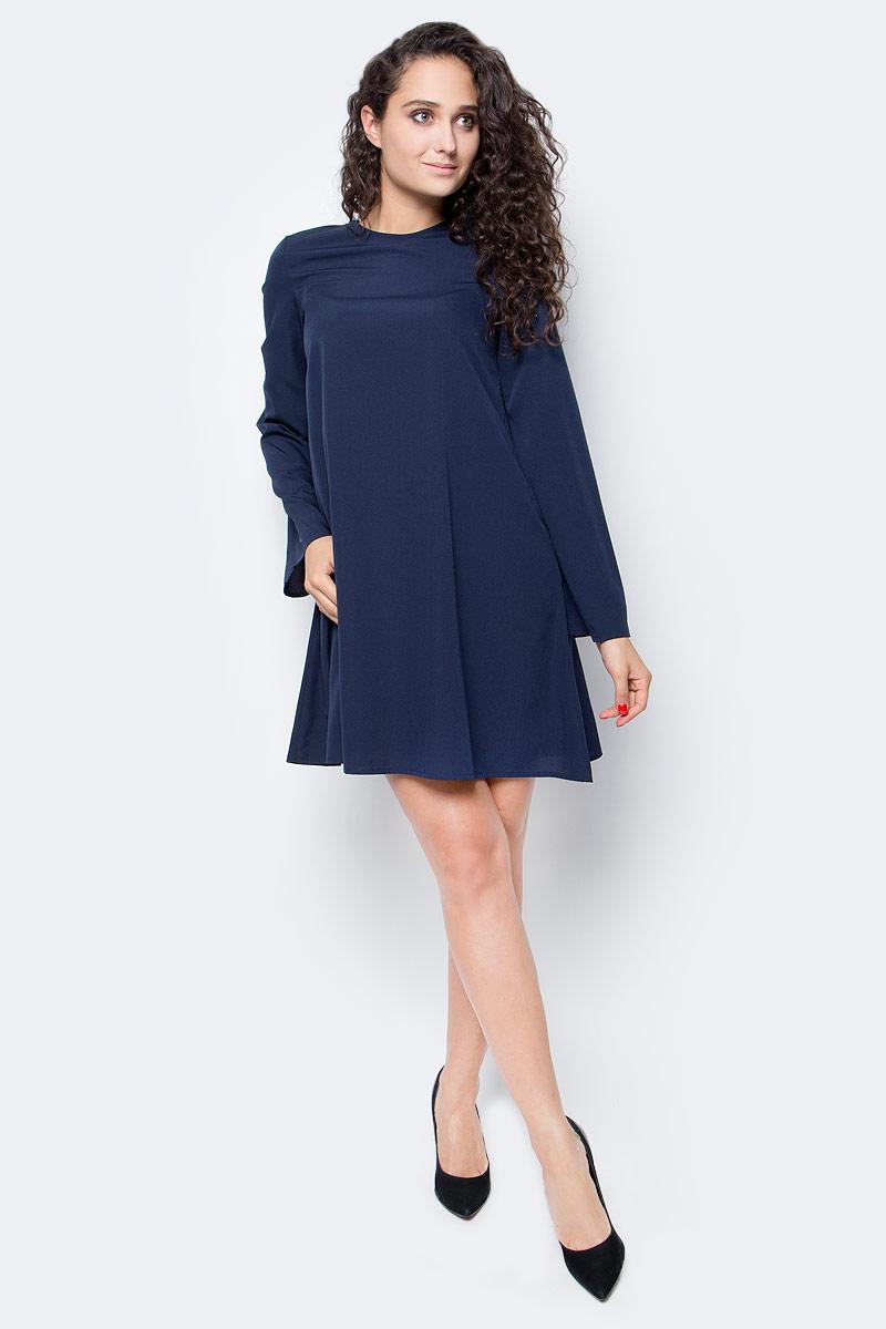 Платье Vero Moda, цвет: синий. 10185862_Navy Blazer. Размер XL (50/52)10185862_Navy BlazerЭлегантное платье Vero Moda выполнено из качественного материала. Такое платье обеспечит вам комфорт и удобство при носке и непременно вызовет восхищение у окружающих. Модель с длинными рукавами и круглым вырезом горловины. Платье застегивается на молнию сзади. Это модное и комфортное платье станет превосходным дополнением к вашему гардеробу, оно подарит вам удобство и поможет подчеркнуть ваш вкус и неповторимый стиль.