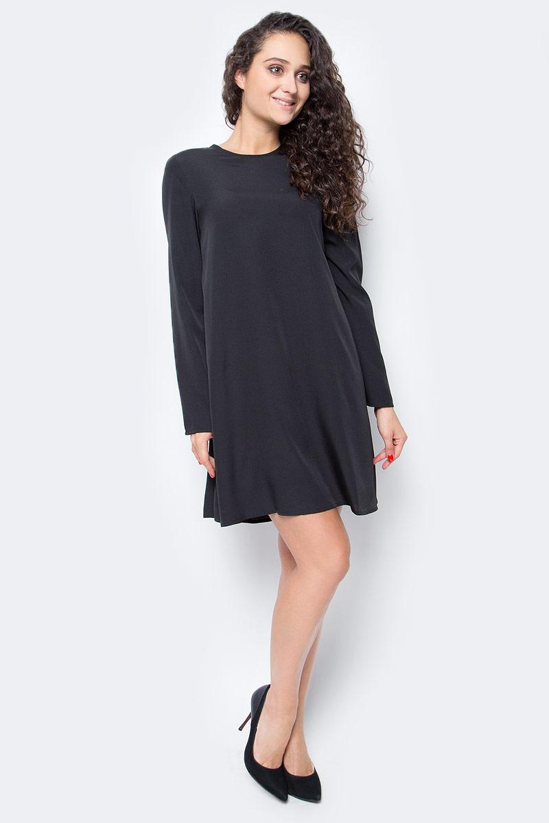 Платье жен Vero Moda, цвет: черный. 10185862_Black. Размер M (46)10185862_Black