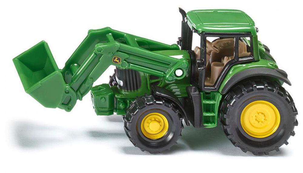 Siku Погрузчик фронтальный John Deere siku siku 1650 трактор john deere с силосным прицепом