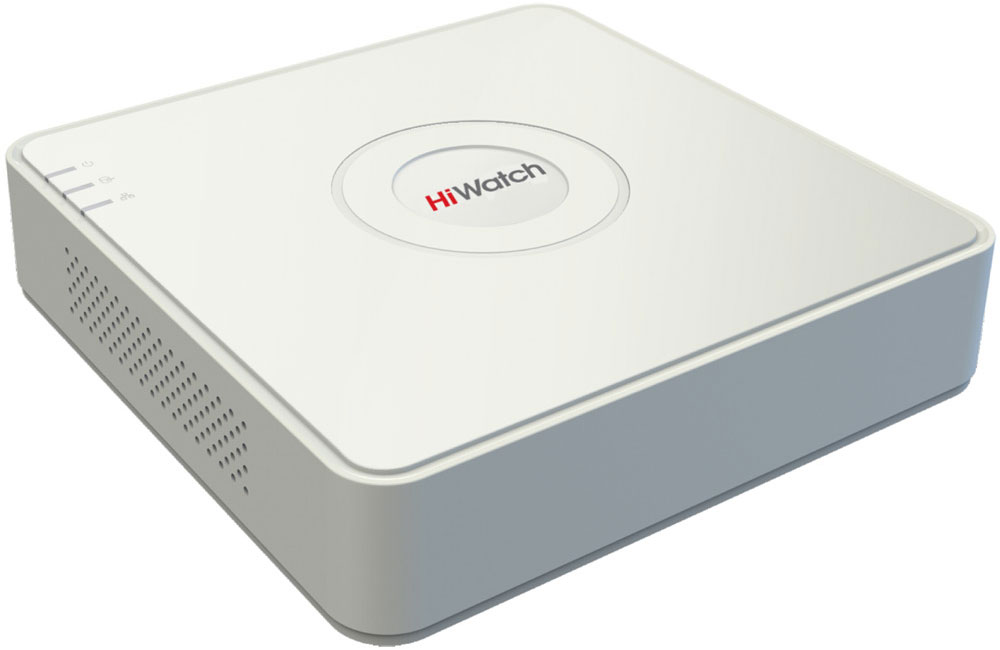 Hiwatch DS-N108 сетевой видеорегистратор1600000781023Сетевой видеорегистратор Hiwatch DS-N108 предназначен для создания новых небольших систем видеонаблюдения и/или расширения существующих комплексов CCTV в рамках проектов с ограниченным бюджетом. NVR позволяет подключить до 8 сетевых видеокамер с разрешением записи и отображения до 2 Мпикс (суммарный битрейт до 25 Мбит/с).Видеорегистратор обладает небольшим размером и приятным дизайном. Благодаря этому его можно устанавливать не только в производственных, складских и торговых помещениях. Он удачно впишется в учебных или офисных зданиях, и даже дома или на даче.Hiwatch DS-N108 оборудован разъемом VGA для подключения монитора, а также портом HDMI для обеспечения наилучшего качества отображения. Имеется возможность установки одного жесткого диска. В числе других интерфейсов: разъём питания 12В, 2xUSB 2.0, сетевой разъем RJ-45, аудиовход/аудиовыход.Потребляемая мощность: 10 ВтВходящая пропускная способность: 50 Мб/сИсходящая пропускная способность: 40 Мб/с