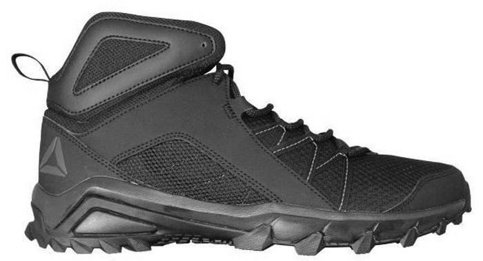 Кроссовки трекинговые мужские Reebok Trailgrip Mid 6.0, цвет: черный, серый. BS5294. Размер 11,5 (46)BS5294Трекинговые мужские кроссовки Reebok Trailgrip Mid 6.0 займут достойное место в вашем гардеробе. Модель выполнена из текстиля. Классическая шнуровка надежно закрепит обувь на ноге. Кроссовки средней высоты обеспечивают поддержку лодыжки и стабильность движений.