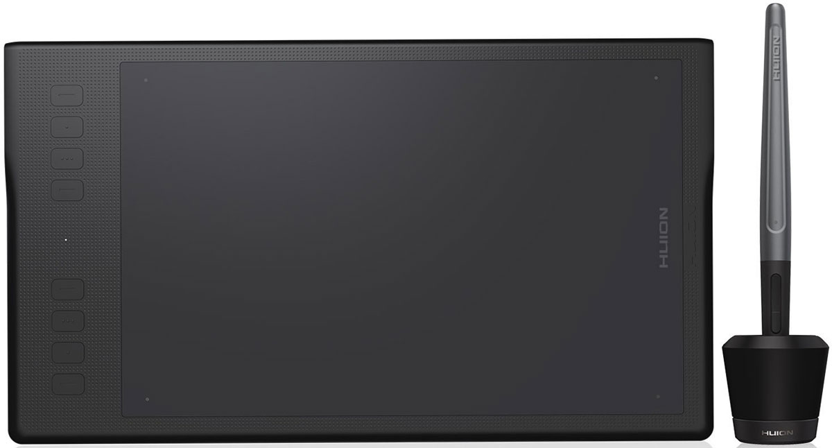 Huion Inspiroy Q11K (5/90) графический планшетINSPIROY Q11KГрафический планшет Huion Inspiroy Q11K отлично подойдет для дизайнеров и просто творческих людей.Чувствительность пера 8192 уровней позволяет проводить плавные и тонкие линии, что сделает любой рисунок более точным, детальным, плавным, и это будет гораздо легче воплотить в жизнь, чем на планшетах с меньшей чувствительностью.Гладкие края и круглые углы новой модели планшета делают его более удобным в использовании, по сравнению с моделями другой конструкции. Такая его особенность позволяет в разы уменьшить усталость дизайнера при длительной работе с этим удобным графическим планшетом.Рабочая поверхность графического планшета сделанная из высококачественных материалов, а 11-дюймовая активная область обладает отличной производительностью.8 настраиваемых функциональных клавиш могут быть настроены для выполнения любой нужной вам задачи для обеспечения комфорта в работе.Новейшая цифровая ручка Pf150Сравнивая с предыдущими версиями, это перо имеет более удобную форму и аккумулятор, который обеспечивает более длительную работу. Также в комплект входит новая подставка для пера, позволяющая поместить ваше цифровое перо как горизонтально, так и вертикально.Беспроводная связь дает вам возможность работы без кабеля, что привносит больше комфорта в работу. Батарея емкостью в 2500 мАч рассчитана на 40 часов работы планшета, с возможностью работать в проводном режиме при разрядившейся батарее.